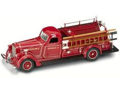 1939 American Lafrance B-550rc Fire Engine Diecast Model 1/43 Red Die Cast Car Model By Yat Ming