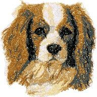 Cavalier Machine Embroidery Design in Photo Stitch Technique Sewing Hacks, Sewing Tutorials, Sewing Projects, Sewing Tips, Sewing Ideas, King Charles Spaniel, Cavalier King Charles, Machine Embroidery Designs, Embroidery Stitches