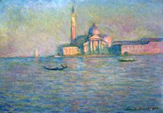 Claude Monet, The Church of San Giorgio Maggiore, Venice (1908) on ArtStack #claude-monet #art