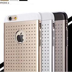 iPhone 6 - Full Body Cases - Effen Kleur/Metallic/Gaas ( Zwart/Goud/Zilver , Polycarbonaat/Aluminium ) – EUR € 32.66
