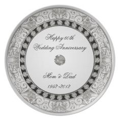 Shop Wedding Anniversary Plate created by Digitalbcon. Personalize it with photos & text or purchase as is! 60th Anniversary Gifts, 60 Wedding Anniversary, Wedding Dj, Anniversary Ideas, Anniversary Decorations, Wedding Ideas, Special Text, Wedding Plates, Custom Plates