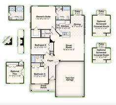 CALHOUN || Square Feet: 1,450 || Bedrooms: 3 || Full Baths: 2 || Garage: 2-Car