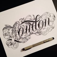 By raul alejandro letras tattoo fonts, tattoo script e typography inspirati Typography Sketch, Tattoo Lettering Fonts, Tattoo Script, Vintage Typography, Lettering Design, Logo Design, Design Art, Inspiration Typographie, Typography Inspiration