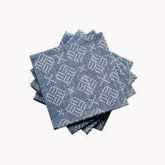 Lot-de-4-serviettes-chambray-imprime-tatouage-43-x-43cm-indigo-v1