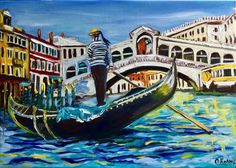 Buy VENICE. GONDOLIER . Original oil painting. Modern art decor., Oil painting by Olga Koval on Artfinder. Discover thousands of other original paintings, prints, sculptures and photography from independent artists.
