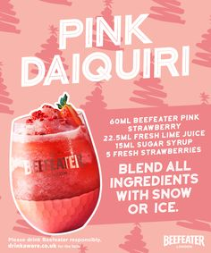 Blend all ingredients with snow or ice. Cocktail Ideas, Cocktail Parties, Cocktail Drinks, Cocktail Recipes, Cocktails, Wine Drinks, Alcoholic Drinks, Daiquiri, Christmas Cooking