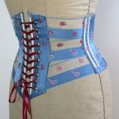 41426f9fc56 Cincher Corset Ribbon Belt   Blue Pink от HoneyCoolerHandmade Corset Belt