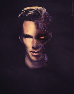Benedict to voice Smaug in the Hobbit. <--- Sadly, this was not my first thought. I just thought he'd been attacked by zombies.