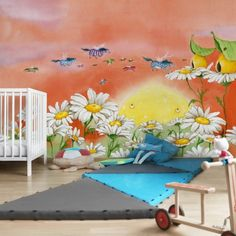 Meleg színű, barátságos poszter tapéta gyerekszobába. #poszter #poszter_tapéta #fotótapéta #lakásdekoráció #faldekoráció #óriásposzter #tapéta_ötletek #gyerekszoba #vlies #fliz #gyerek_poszter Kids Rugs, Pony, Painting, Home Decor, Products, Botanical Wallpaper, Colorful Paintings, Mural Wall, Kids Wallpaper
