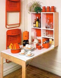 Amazing Folding Wall Table Ideas To Saving Space 24