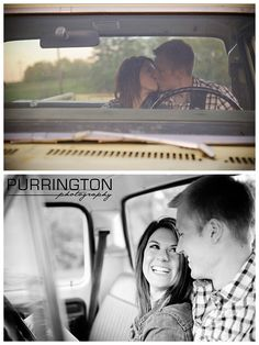Couple inside of an old Ford truck engagement © Purrington Photography Bemidji Photographer