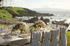 Luxury outdoor wedding table decor by Bliss - Anna Kim Photography