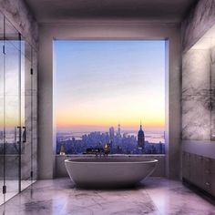 I am sorry but that's a real bathroom view in New York. - Imgur