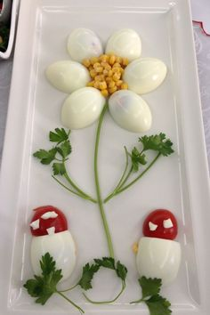 Decorate cold plates for Easter: 18 creative identifiers - Food Carving Ideas Cute Food, Good Food, Yummy Food, Creative Food Art, Food Art For Kids, Food Carving, Food Garnishes, Garnishing, Veggie Tray