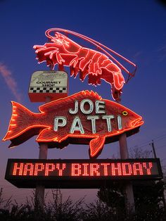 """Joe Patti's Seafood...Pensacola, Florida.  We try to make a run to Joe Patti's for fresh seafood whenever we start home from the beach.  They pack it well.  Just to shop at Joe Patti's is a great experience. Has an """"Old Florida"""" feel to it....Florida before Disney! (slj)"""