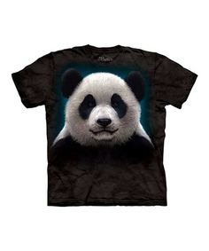 Take a look at this Black Panda Face Tee - Toddler & Kids by The Mountain on #zulily today!