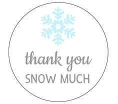 20 Thank You Snow Much Stickers, Winter Stickers, Snowflake Labels, Winter Birthday, First Birthday, Baby Shower, Onderland Theme, Party by thepartypenguin on Etsy