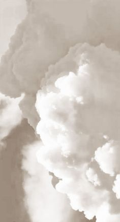 fluffy white clouds in the sky.