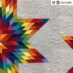 Thank you Donna for sharing such a great pic of my Deconstructed Lonestar quilt at the @rjrfabrics lounge at Quilt Market!! .......................................................................#Repost @donna8b with @repostapp ・・・ Seen some stunning inspiring quilts at #quiltmarket2016. This quilt by @freebirdquiltingdesigns in the RJR booth was amazingly gorgeous.
