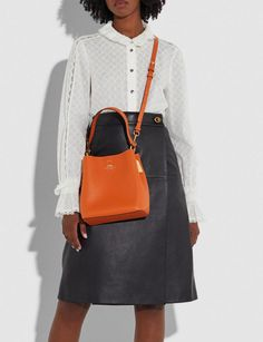 Temporary Store, Polished Pebble, Coach Outlet, Designer Bags, Online Purchase, Small Towns, Pebbled Leather, Bucket Bag, How To Wear