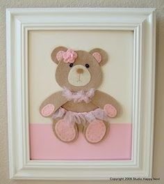 Cute in Felt Baby Crafts, Felt Crafts, Diy And Crafts, Crafts For Kids, Felt Pictures, Fabric Pictures, Baby Shawer, Diy Baby, Felt Decorations
