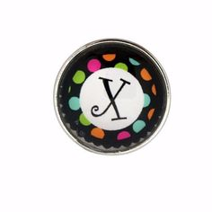 #5432 Multi-Colored Alphabet Letter Snaps 20mm (A-Z Available)