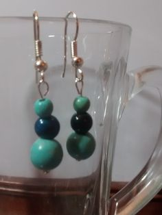 Jade Sphere Dangles from Birds & Beads Stone Earrings, Beadwork, Jade, Dangles, Birds, Beautiful, Bird, Birdwatching