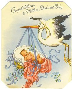 Congratulations to Mother, Dad and Baby card by Tommer G, via Flickr