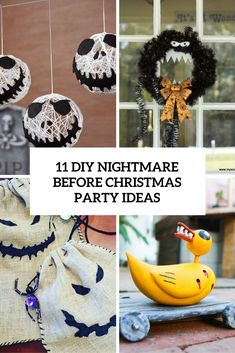 99 Super Creative Nightmare Before Christmas Party Ideas - Creative Maxx Ideas Nightmare Before Christmas Decorations, Cheap Halloween Decorations, Nightmare Before Christmas Halloween, Halloween Party Themes, Christmas Party Decorations, Christmas Themes, Christmas Diy, Christmas Town, Grinch Christmas
