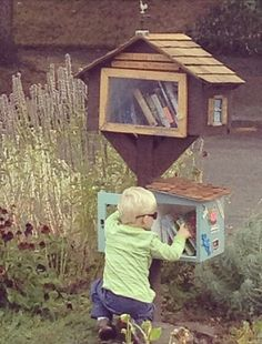 Arts & Crafts - Bungalow - Little Free Library - This one has a kids annex!