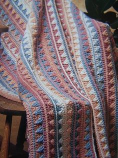 unusual crochet afghans | ... Cent S&H Southwest Decor Crochet Afghan Blanket Pattern Lily Pattern