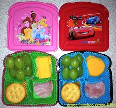 Make your own lunchables in a sandwich box...Much healthier and cheaper than Oscar Mayer ones...