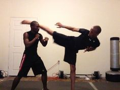 Father and son training