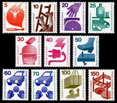 1971 Accident Prevention series of stamps, Germany