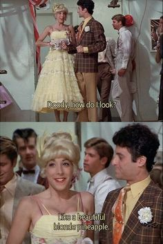 "when someone asks me, ""how do i look?"" i reply ""like a beautiful blonde pineapple"" and NO ONE ever knows what i mean lol Oh grease John Travolta, Movies Showing, Movies And Tv Shows, Grease Quotes, Grease 1978, Grease Meme, Grease Is The Word, Comedia Musical, Vintage Movies"