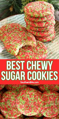 Crinkle Cookies, Chewy Sugar Cookies, Sugar Cookies Recipe, Xmas Cookies, Yummy Cookies, Cookie Recipes, Dessert Recipes, Pecan Recipes, Christmas Sweets