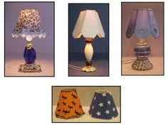 How to make a miniature Lampshade, by Artisan Pat Carlson Dollhouse Miniature Tutorials, Miniature Crafts, Miniature Dolls, Cardboard Dollhouse, Diy Dollhouse, Dollhouse Miniatures, Miniature Furniture, Dollhouse Furniture, Vitrine Miniature
