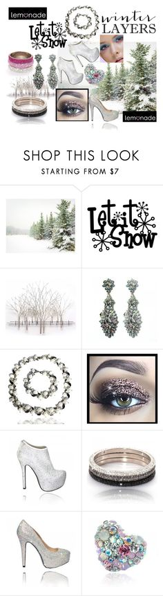 Lemonade Winter Fashion   Crystal Shoes   Crystal Bangles   Crystal Jewellery by lovelemonade on Polyvore featuring Pottery Barn, Home Decorators Collection, women's clothing, women's fashion, women, female, woman, misses and juniors