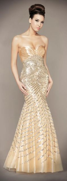 Mac Duggal Golden Gown