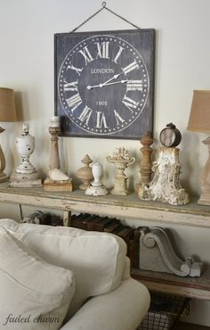 I've been wanting a new large clock for my living room. You might have seen a glimpse of it in my recent post sharing some green French b...