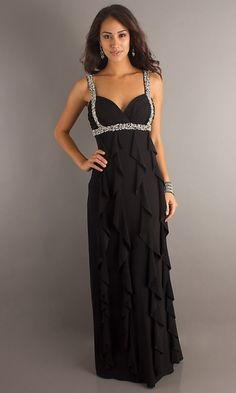 Column Sweetheart Strap with Beads Floor Length Prom Dress [10674] - US $158.9900