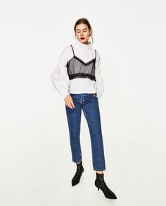 ZARA - WOMAN - TOP WITH LACE