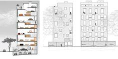 Edificio de Vivienda Multifamiliar San Martín 605: Creando una doble fachada Floor Plans, How To Plan, Architecture, Buildings, Projects, Arquitetura, Architecture Design, House Floor Plans, Architects