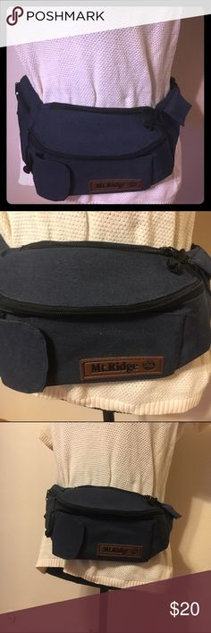 Vintage mt. Ridge canvas navy blue fanny pack Vintage fanny pack , bum pack , hip bag. Nice thick canvas. Perfect for concerts , festivals, travel , exercising , walking dogs , anywhere that you need to be hands free. In great shape. Vintage Bags Mini Bags