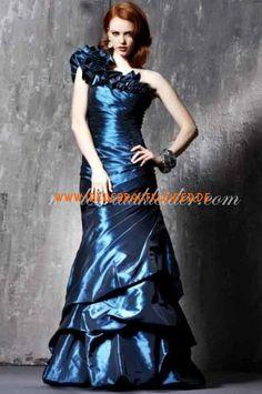 Meerjungfrau ein Schultergurt bodenlangen Taft Abendkleid