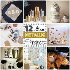 12 Metallic Glam DIY Projects | MyBlessedLife.net