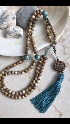 108 beads 108 beads - Mala beads how to make - Beaded Tassel Necklace, Tassel Jewelry, Diy Necklace, Beaded Jewelry, Beaded Bracelets, Jewellery, Handmade Necklaces, Handcrafted Jewelry, How To Make Necklaces