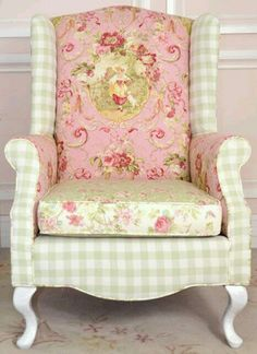 Love the mix of fabrics! Adds depth to a beautifully shaped chair.