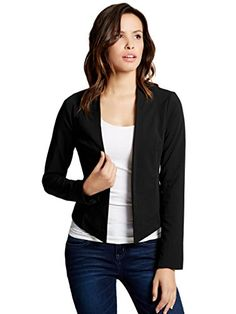 G by GUESS Womens Jovie Shawl Blazer * Continue to the product at the image link.(This is an Amazon affiliate link and I receive a commission for the sales) #WomensCoatsandJackets