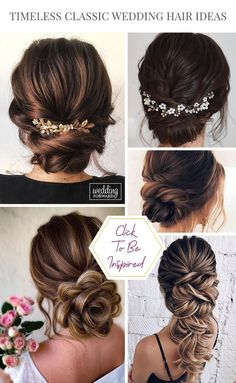 30 Timeless Classic Wedding Hairstyles ❤ We have classic wedding hairstyles for every theme and taste. If you've been dreaming of a timeless fairytale wedding, here's an inspiration. Veil Hairstyles, Classic Hairstyles, Simple Wedding Hairstyles, Retro Hairstyles, Summer Hairstyles, Korean Hairstyles, Party Hairstyles, Hairstyles With Bangs, Classic Wedding Hair